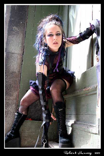 Female model photo shoot of LunoZa by Robert Harvey in mtl old town
