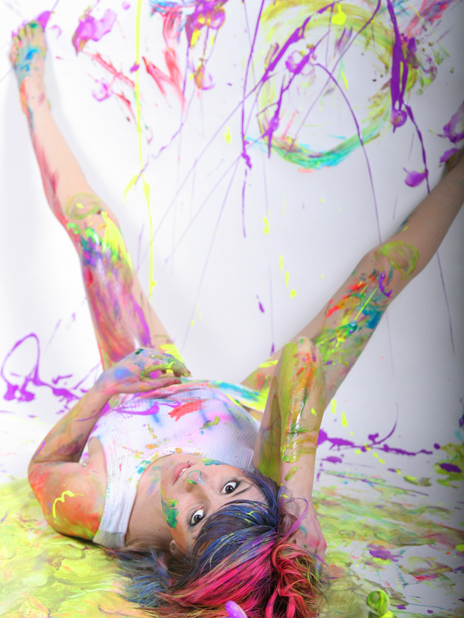 May 10, 2007 desert rose photography i love to finger paint!