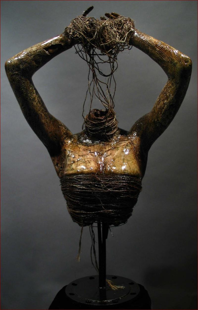 NOA Gallery May 10, 2007 Gage M. Prentiss Bound 2- lifesize plaster, twine