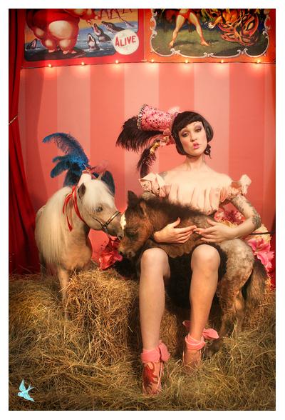 666 studios May 16, 2007 666photography MUA Lisa Naeyaert, Model Hatchet Harlot, set/costume 666 bunny: HH and family