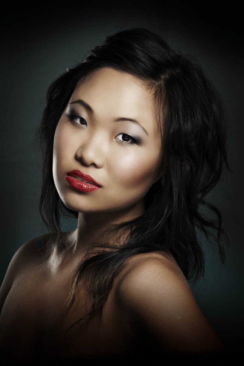 Female model photo shoot of Anqi by joshdphoto, makeup by LePHUNK Makup Artistry