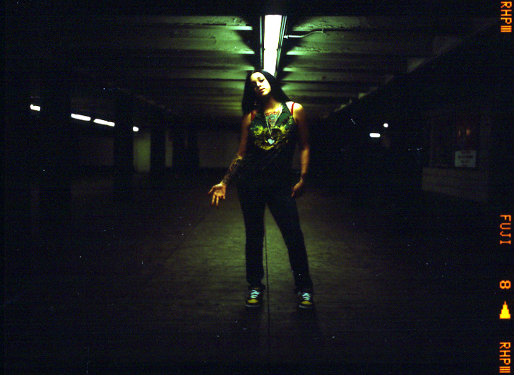 nyc May 18, 2007 www.EmmanuelleTricoire.com subway slut