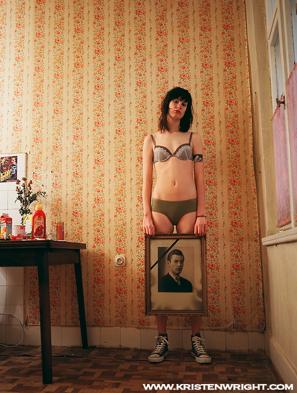 Female model photo shoot of Kristen Wright in Prague, CZ