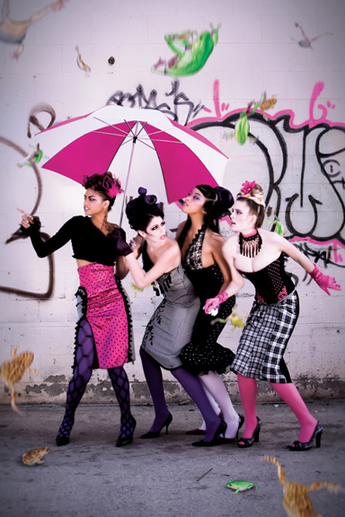 Female model photo shoot of PINaR ERIS, ashley lindsay morgan and Luckyfox by Jamais Vu, makeup by MelodyW Hair N Makeup and JK Makeup and Hair