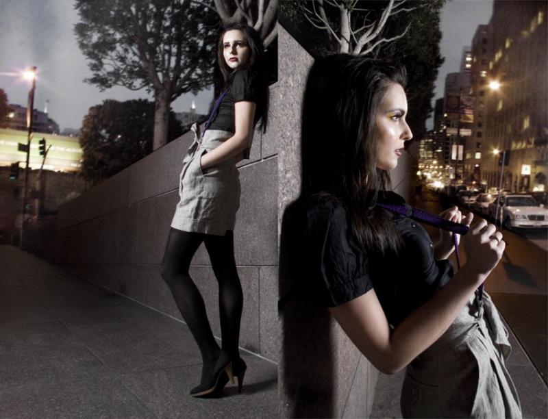 Female model photo shoot of Tara C and AMP in San Francisco, CA, makeup by Brickhouse Beauty Inc
