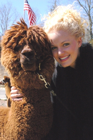 Hampton, CT Jun 05, 2007 2006 BlackStripe Productions Safe Haven Alpaca shoot Karla