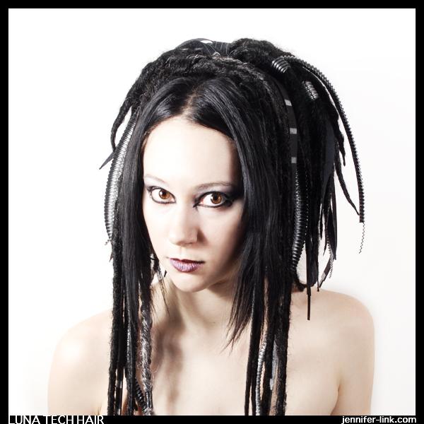 Tonawanda, New York Jun 09, 2007 Model for LunaTech hair design. Photography by Jennifer Link. LunaTech Hair Design
