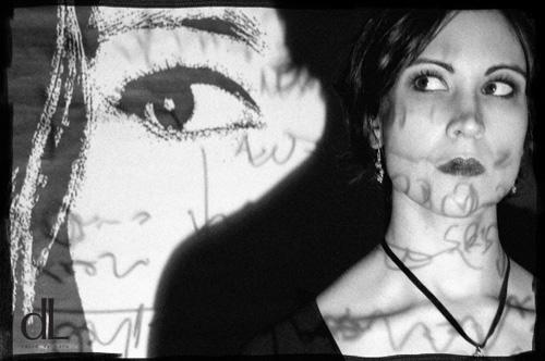 Female model photo shoot of Chris Romani by David de Lara