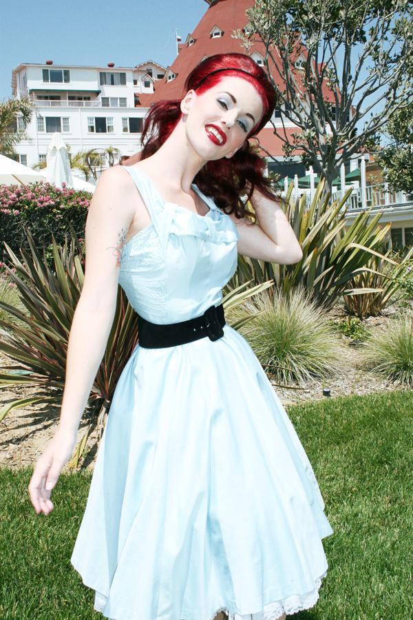Female model photo shoot of Kirsten Jensen in HOTEL DEL