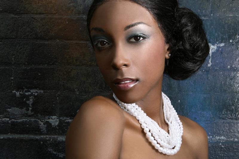 Female model photo shoot of Monica - Makeup Artist in Empress Magazine Shoot