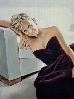 Jun 26, 2007 andy lloyd My painted portrait of Diana, after Testino