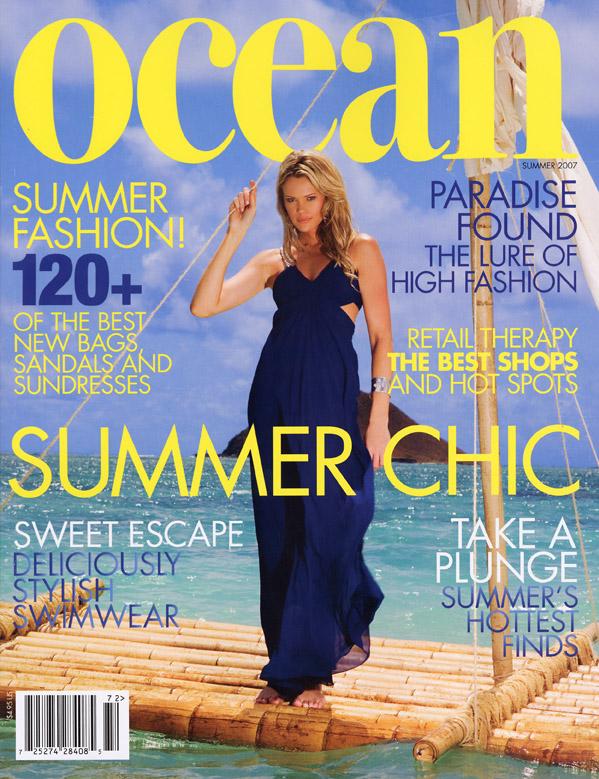 Lanikai Beach, Oahu/ Hawaii Jul 05, 2007 Ocean Magazine Ocean Mag Cover. H/Mup: Me. Pht: Dominic Petruzzi