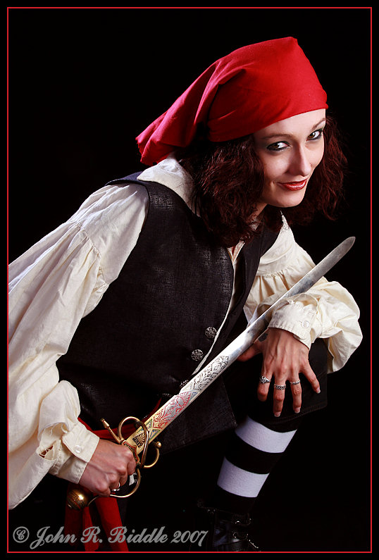 On the Pirate Ship Black Pearl just off Jost Van Dyke Jul 06, 2007 © John R. Biddle 2007 Aye me hardy! Pass the Grog!