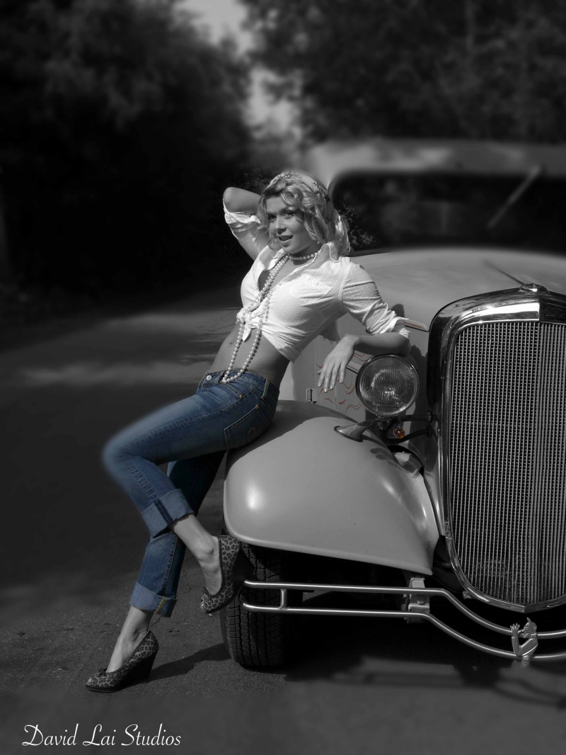 Deas Island, BC Jul 07, 2007 First Focus Photography 36 Chevy Pick Up Pin Up - Kailey