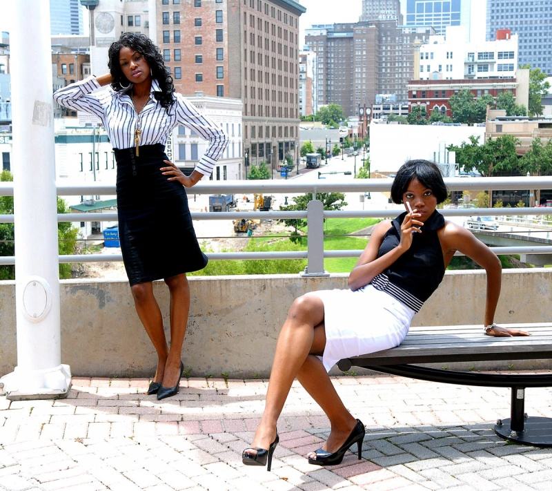 Male and Female model photo shoot of ERNIE CHAN, Olaide and Uduak by ERNIE CHAN in Downtown Houston