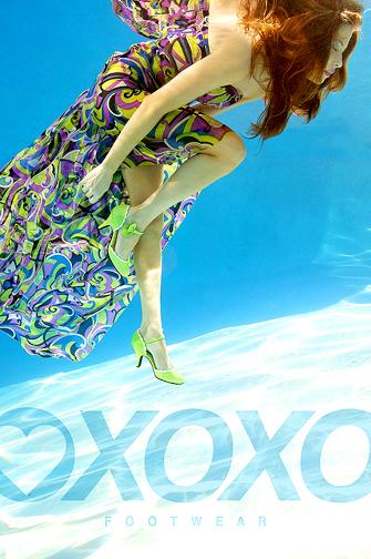 Santa Barbara, CA.  Jul 14, 2007 Tracy Kahn Photography XOXO Shoes Advertising Green