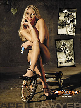Los Angeles Jul 17, 2007 ©Tony Donaldson April Lawyer poster for Maxxis, the most successful poster theyve ever had.