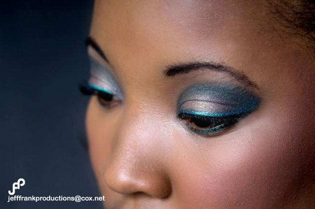 Female model photo shoot of Precious_1 by jeff frank productions, makeup by Kristine Frank