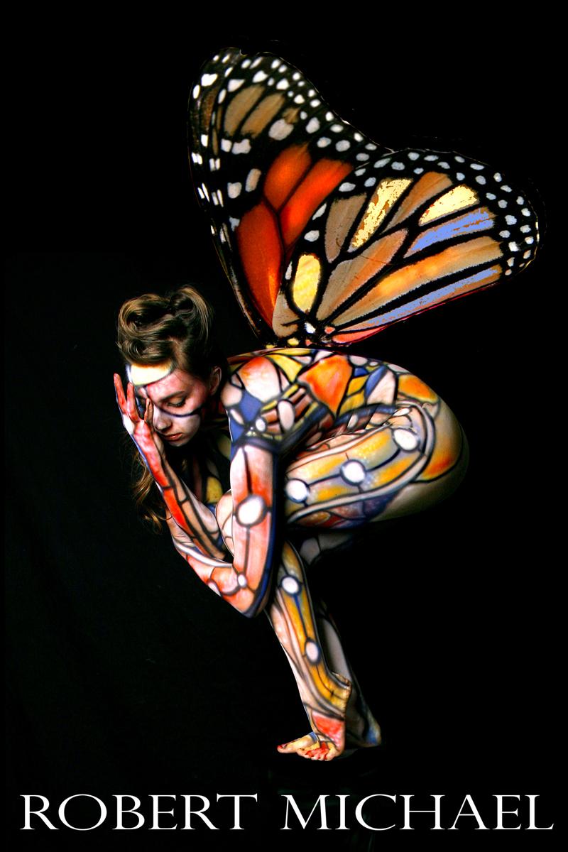 Robert Michael Studio Jul 23, 2007 Robert Michael © 2007 Body Painting by Roustan, Model Lil Miss Kacie