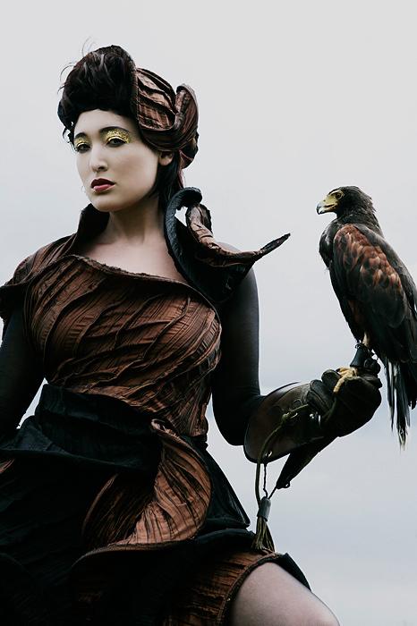Female model photo shoot of Iraida, wardrobe styled by LARISA KATZ ART COUTURE