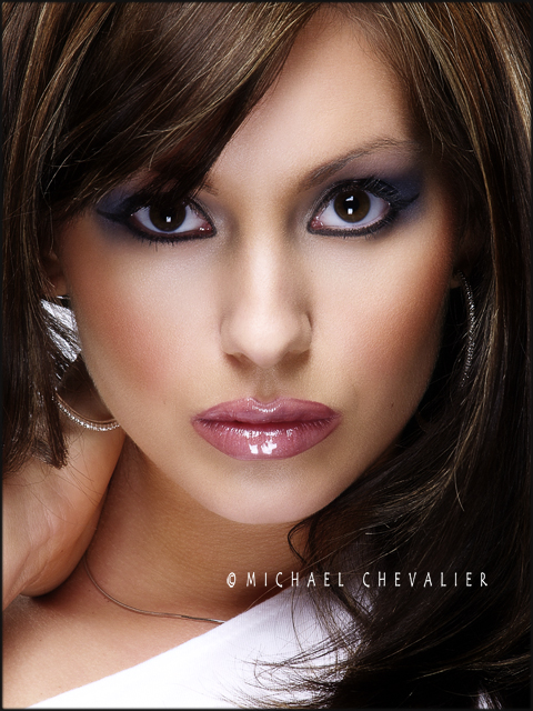 Female model photo shoot of Christina Chevalier by Michael Chevalier in Akron, Ohio, hair styled by Christael Beauty
