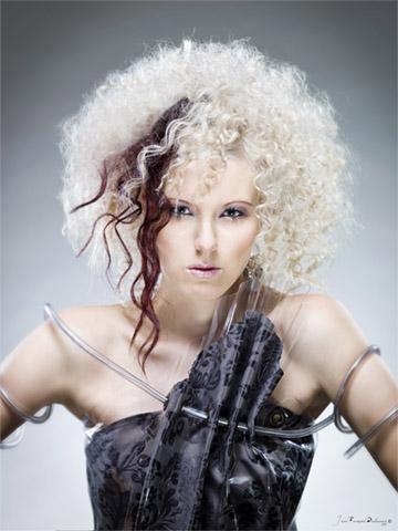 Female model photo shoot of Anouck in Somewhere in 2030...
