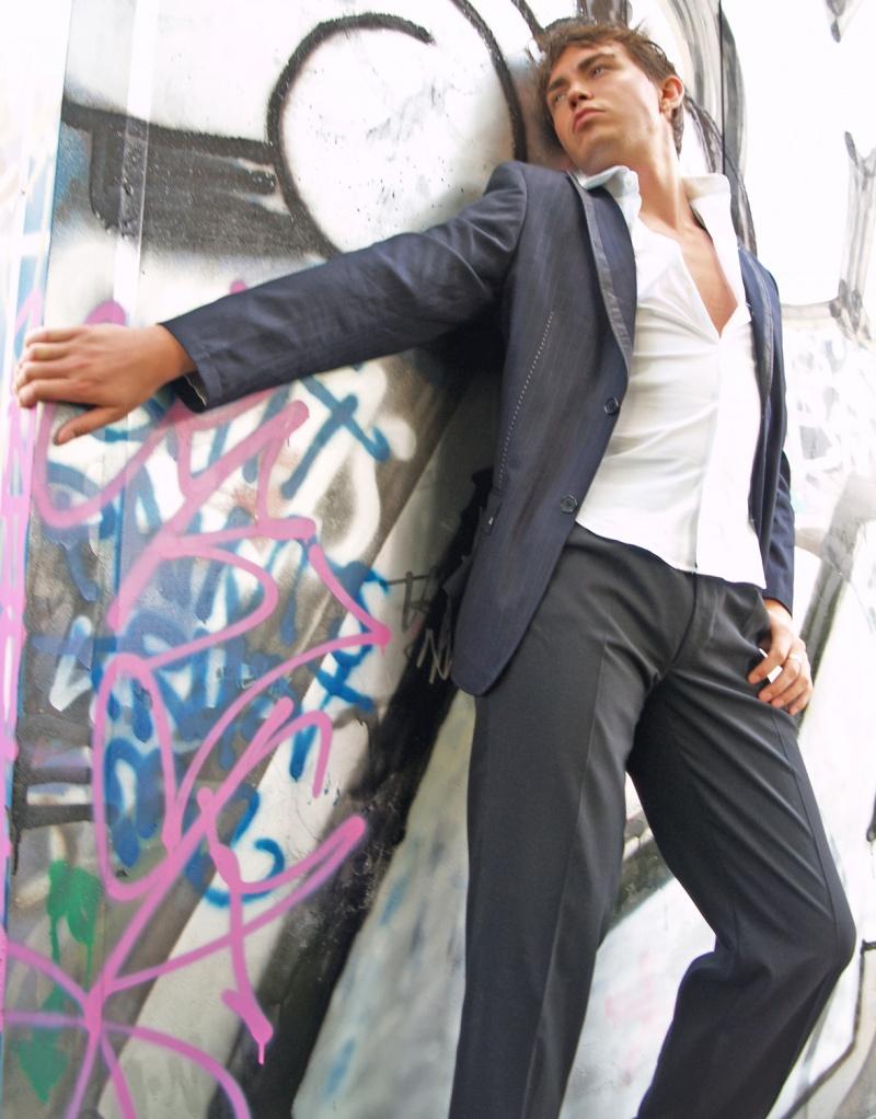 Male model photo shoot of George Wainwright by Digital Fine Art  Photo in London