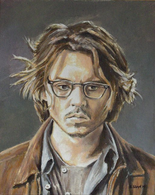 England Aug 01, 2007 Andy Lloyd Johnny Depp, painted August 2007