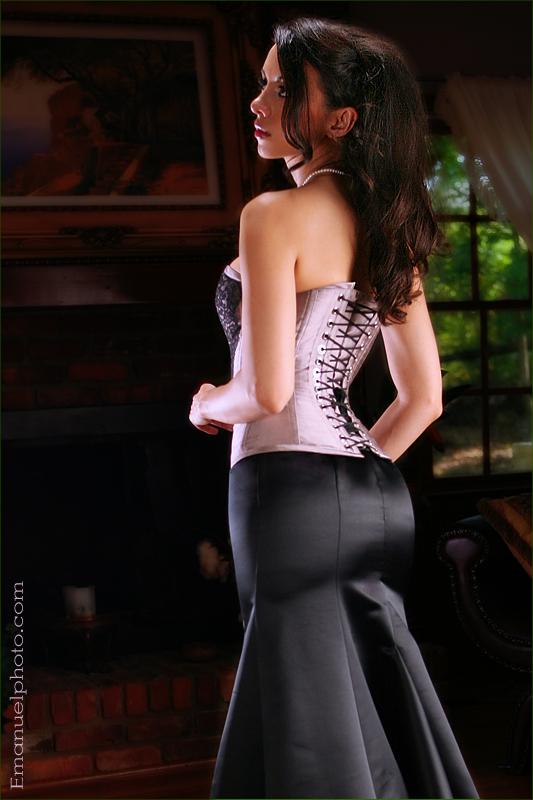 Aug 02, 2007 emanuel photo, mua/hair by Belle trachtenburg, clothing by Meschantes Corsetry kerri taylor purple corset back