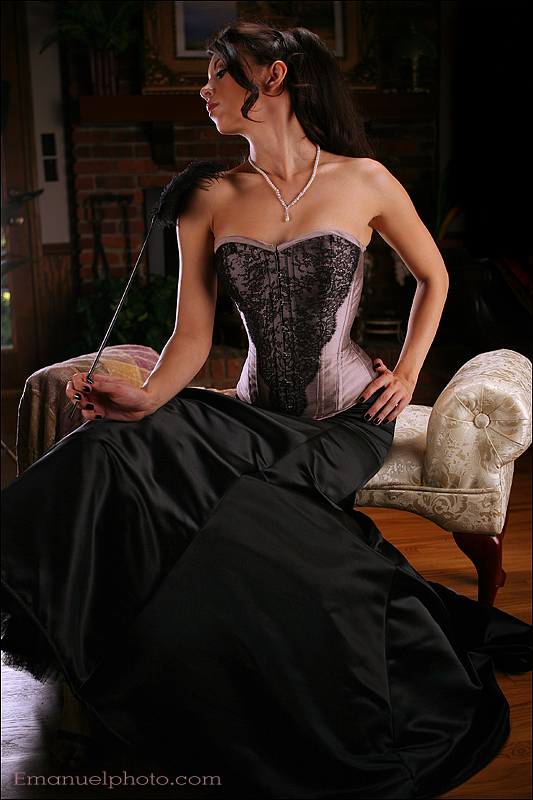 Aug 02, 2007 emanuel photo, mua/hair by Belle trachtenburg, clothing by Meschantes Corsetry kerri taylor lilac corset