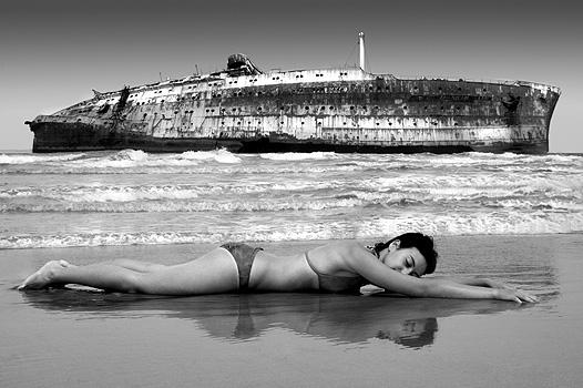 Fuerteventura, Canary Islands Aug 03, 2007 Ione Ascanio Green Beach portrait