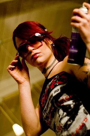 Female model photo shoot of Alison Eskandalo Hair