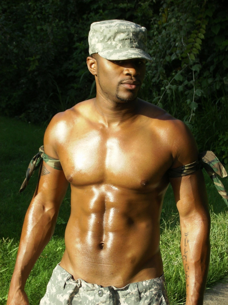 Male model photo shoot of LABARON in the field