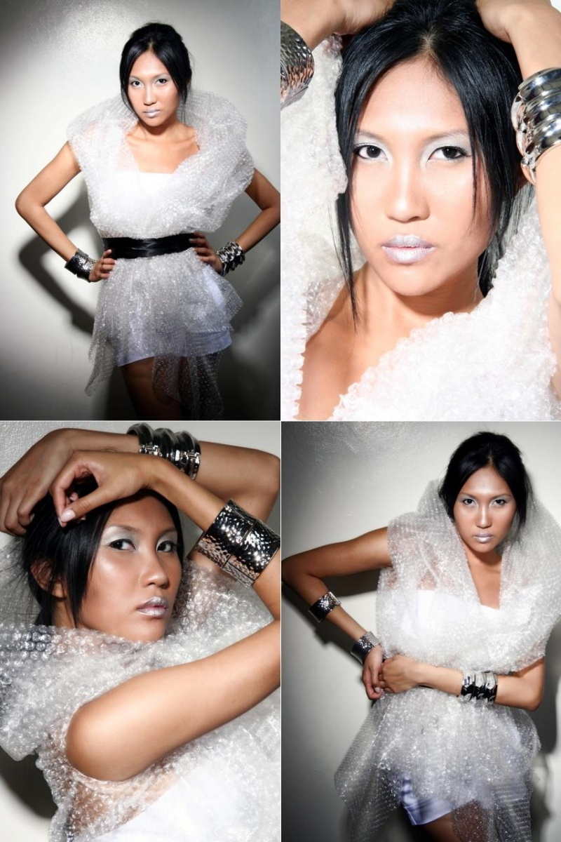 Manila, Philippines Aug 11, 2007 Lenard Po +++  makeup&styling by JJ Liongson Bubble Wrap Couture