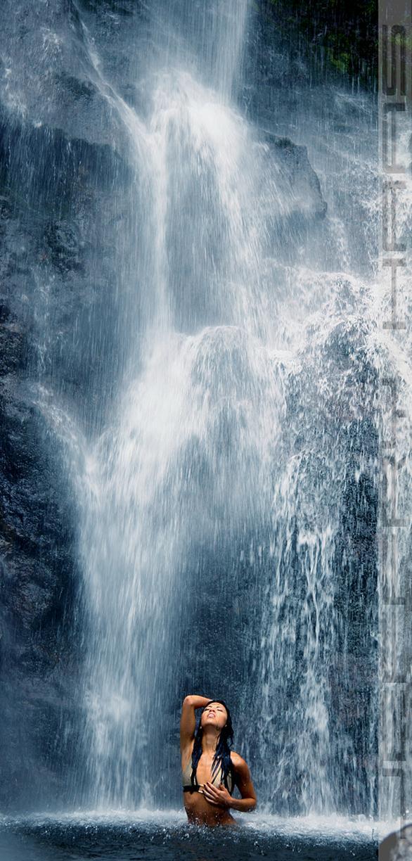 Treasure Falls Aug 17, 2007 Jeffry Haas Bathing in the waterfall