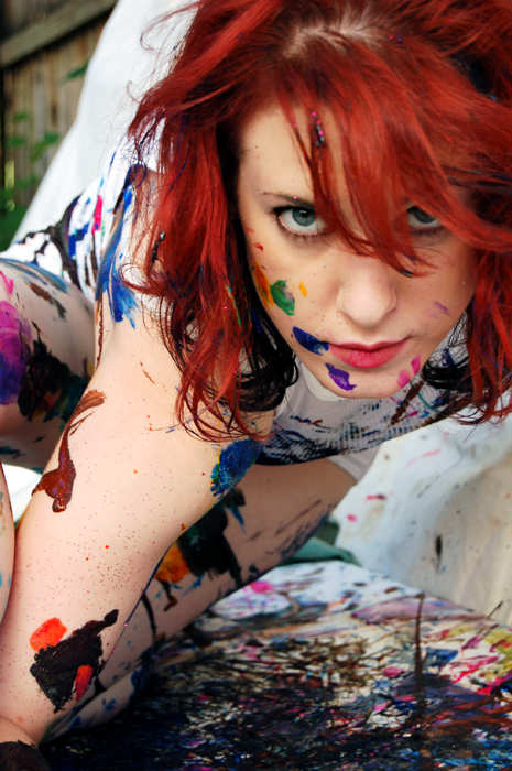 My Backyard, NY Aug 20, 2007 2007 Becky Ondra Painted Faerie says RAWR!