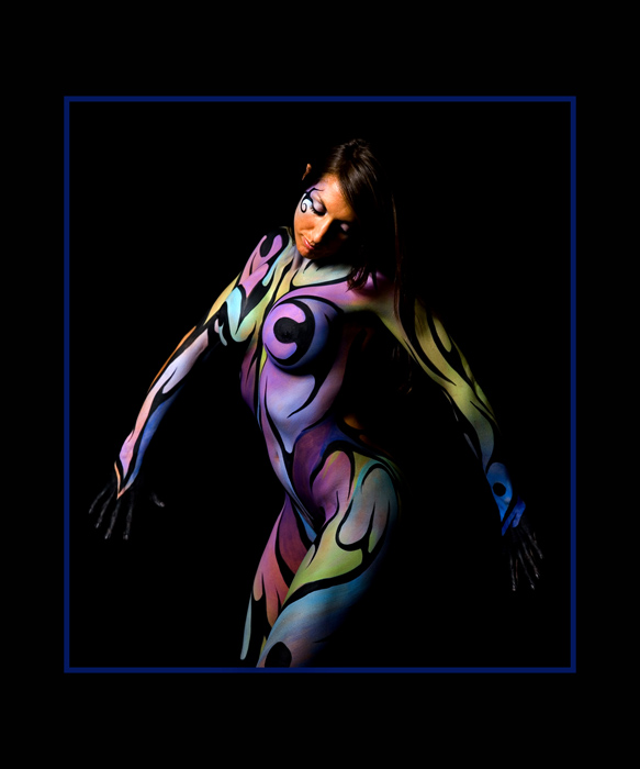 Male model photo shoot of Troy Tomlinson, body painted by Pashur
