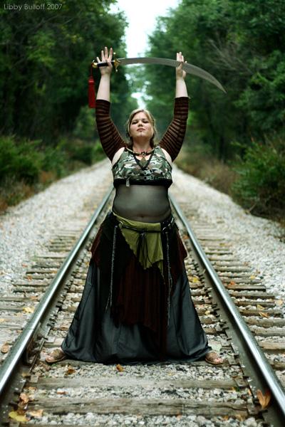 Female model photo shoot of Libby Bulloff in Train tracks, Bloomington, Indiana