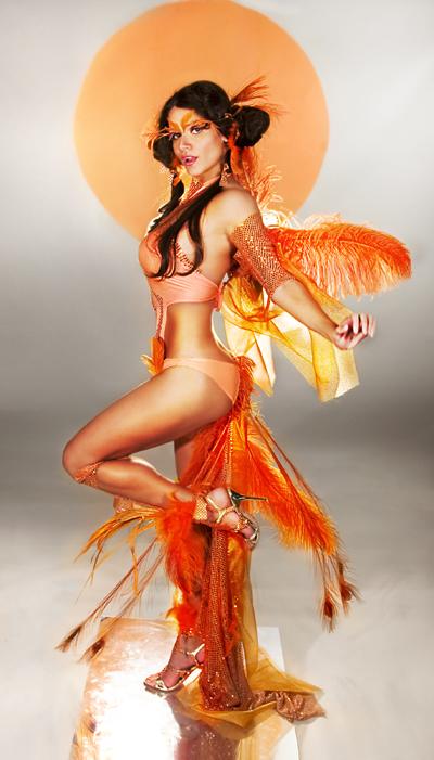 Glendale, AZ Sep 04, 2007 Diana Konrad Orange Feathery Goddess  =)