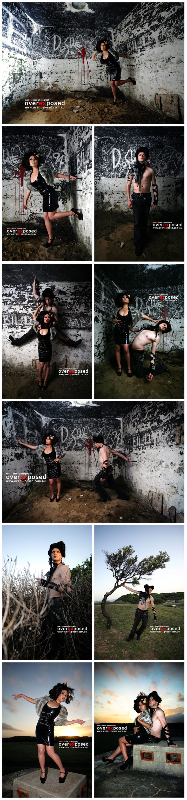 Female and Male model photo shoot of Anqi and Thomas Pullar by overexposed, hair styled by LyndallVile, makeup by LePHUNK Makup Artistry