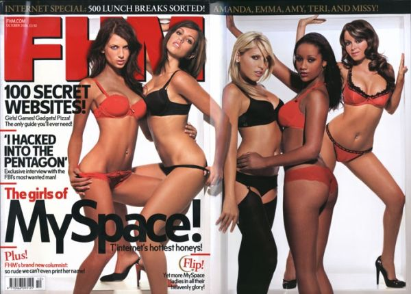 London, England Sep 13, 2007 FHM UK Pull-out cover of FHM UK