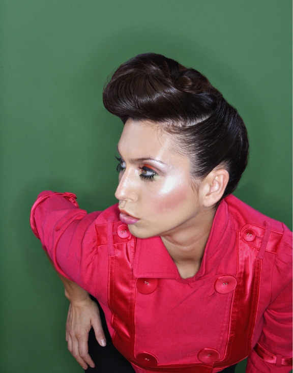 Female model photo shoot of Jocelyn Hair and Makeup and Daniela Lazar, makeup by Jacqueline Fancher