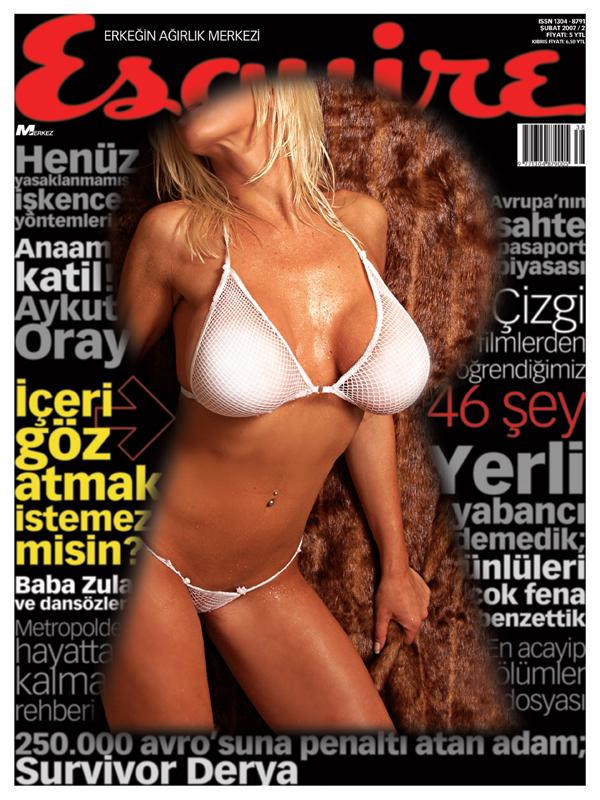 Mua & Wardrobe ~ Desiree Starr Enterprises Sep 25, 2007 Daniel Andres   Esquire Magazine