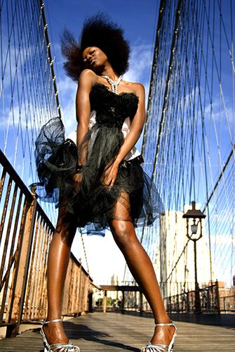 Brooklyn Bridge NYC Oct 01, 2007 alex borghi2007 Dress by Fashion Designer Elena Shimada