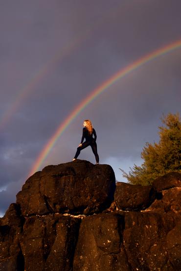 ISLAND OF KAUAI-natural double rainbow Oct 08, 2007 VISUAL VENTURI Liz Ashley and the Double Rainbow