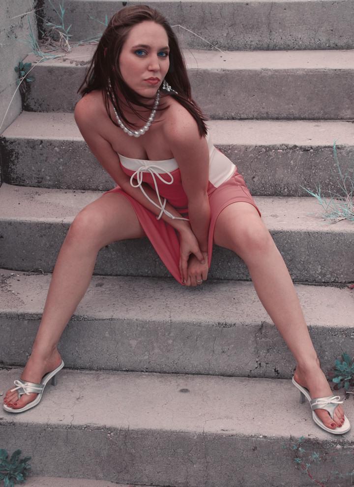 Female model photo shoot of Tiffiny by maHpav Graphics