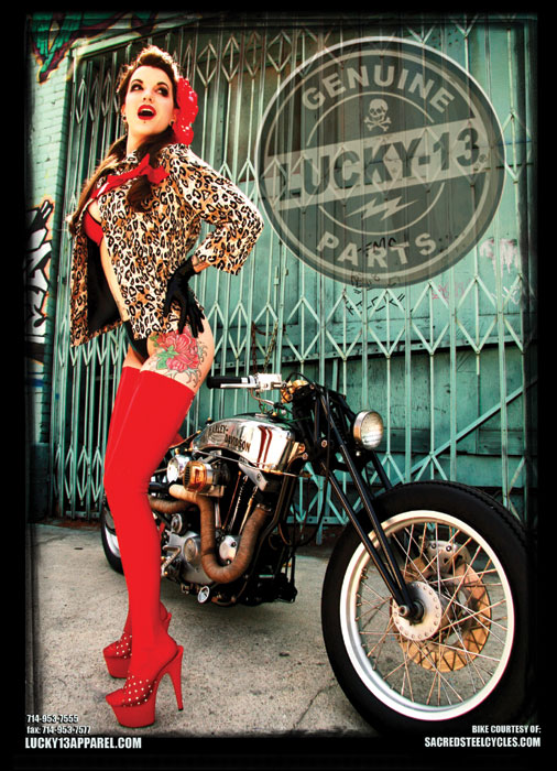 Los Angeles Oct 15, 2007 Lucky13apparel.com print ad for Lucky 13