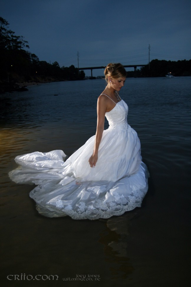 Oct 17, 2007 J. Jones trash the dress, Bridal