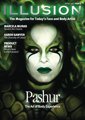 There are 3 models on this cover. Kona is the face of Medusa. Snakes were painted onto the bodies of Karen Leigh and Maura to make the snake hair background. Oct 17, 2007 Pashur / Joshua Cruey Medusa - Illusion Magazine cover