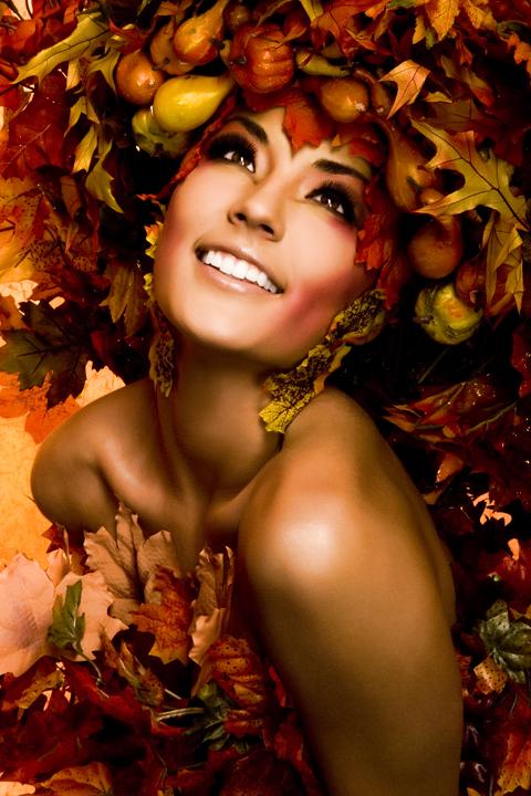 Saint George, Utah Oct 18, 2007 2007 Skyy McKendry; Model Kassie, Makeup: Makeup by Kirsten, Concept & Styling: Skyy McKendry Inspired by the Glitterguru Queen of Autumn